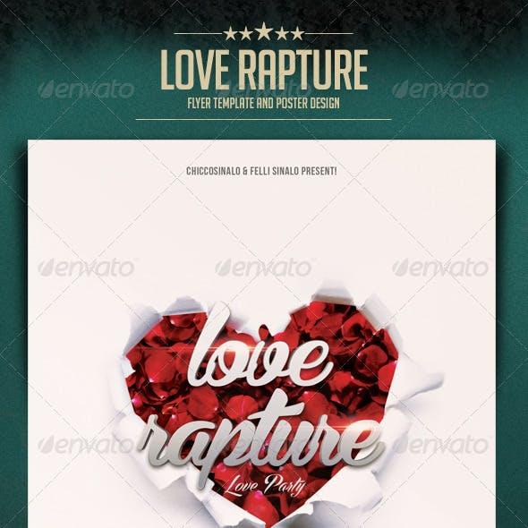 Love Rapture Flyer Template