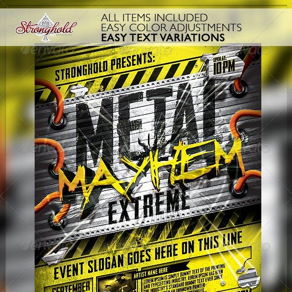 Metal Mayhem Extreme Flyer Template