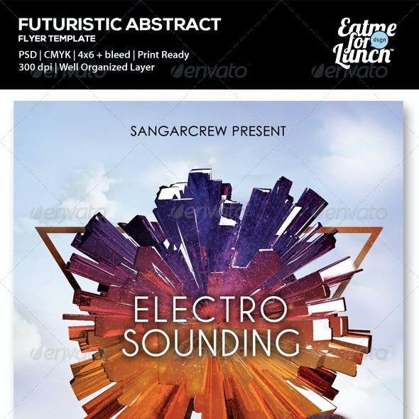 Futuristic Electronic Music Flyer/Poster Templates