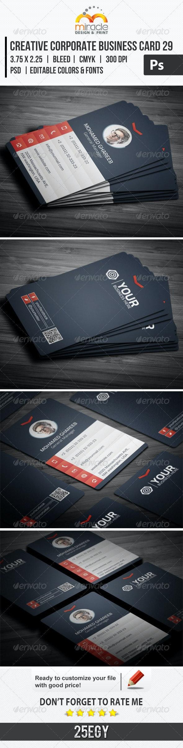 Creative Corporate Business Card 29 - Corporate Business Cards