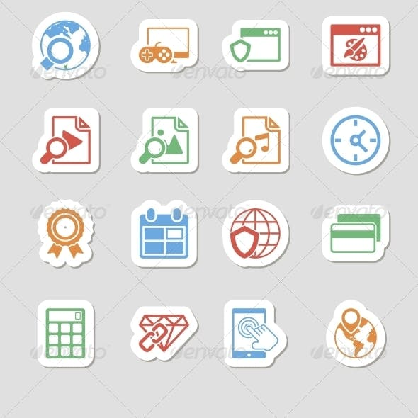 Seo Icons as Labes Vol 3