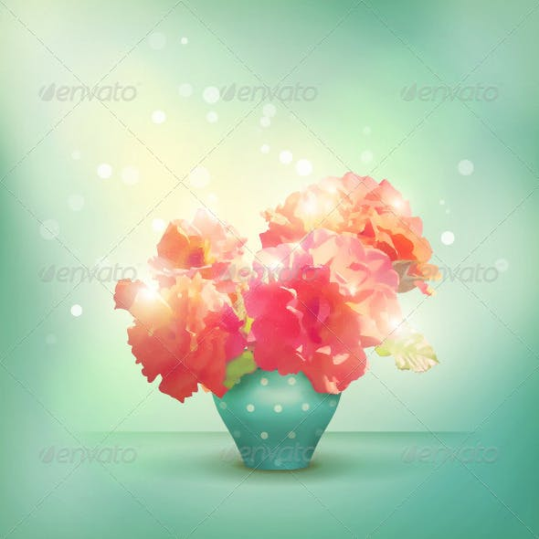 Romantic vector floral background