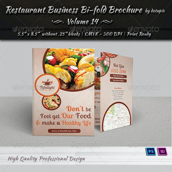 Restaurant Business Bi-Fold Brochure | Volume 14