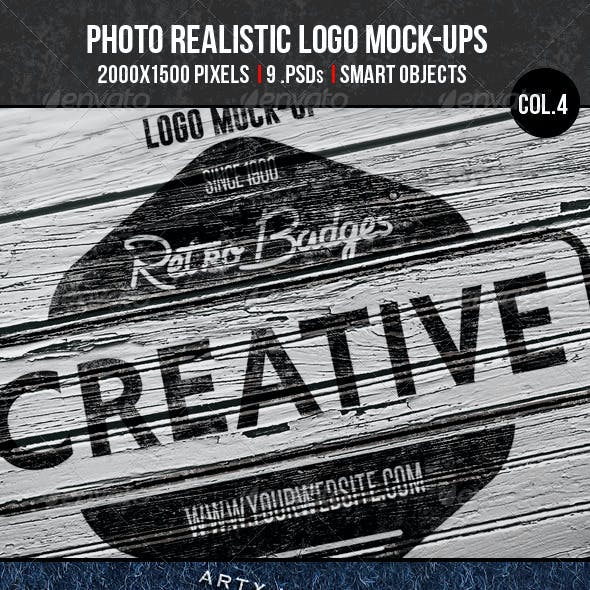 Photorealistic Logo Mock-Ups Col.4