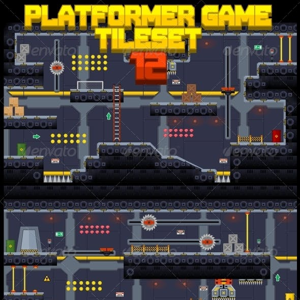 Platformer Game Tile Set 12