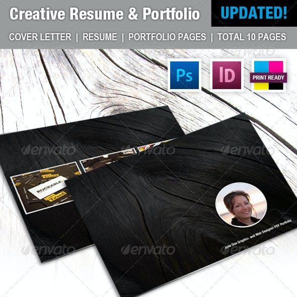 Creative Resume and Portfolio Booklet