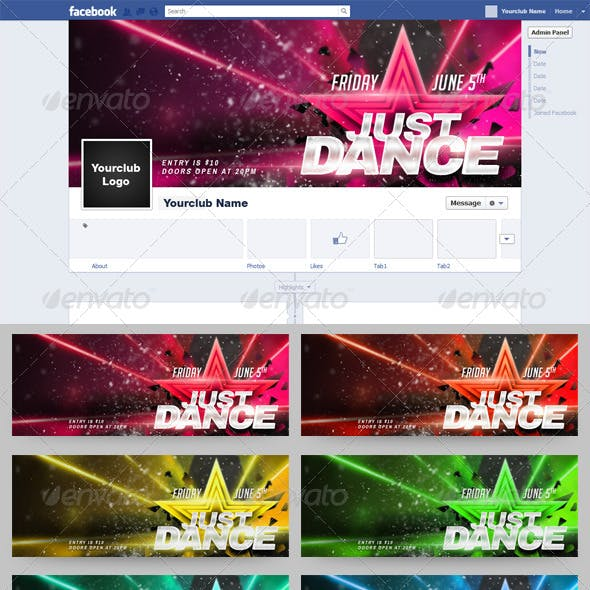 Just Dance FB Timeline Cover 9 in 1