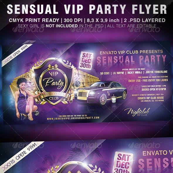 Sensual VIP Party Flyer