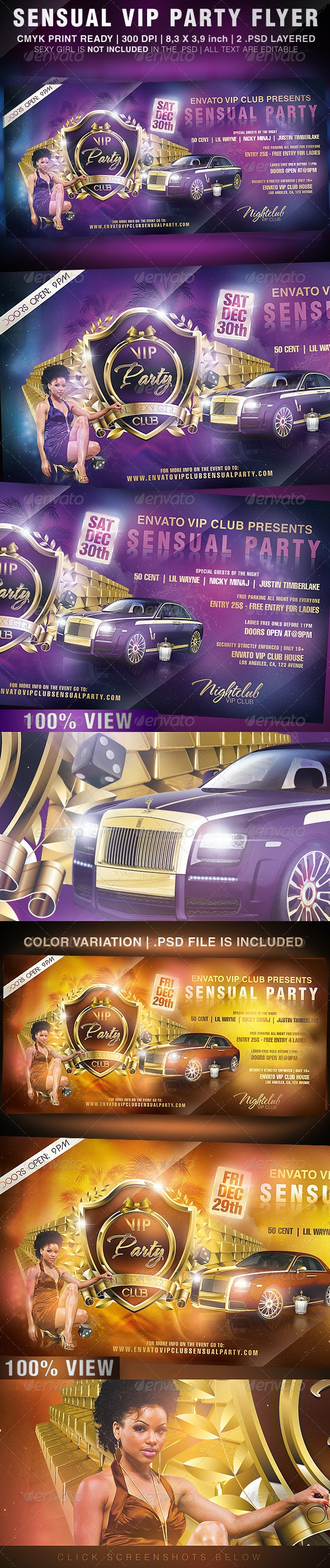 Sensual VIP Party Flyer - Clubs & Parties Events