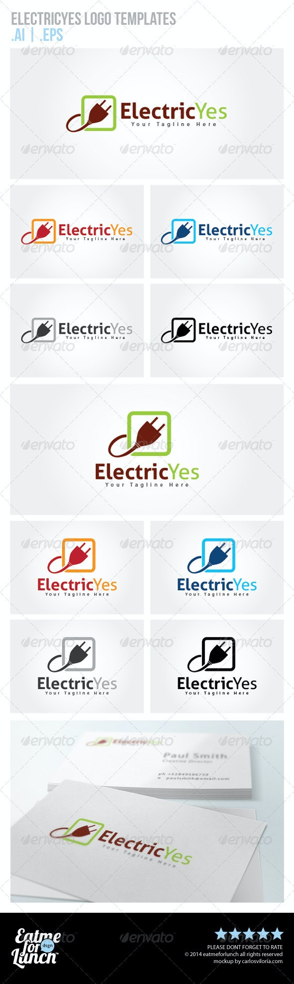 Electricity Logo Templates - Objects Logo Templates
