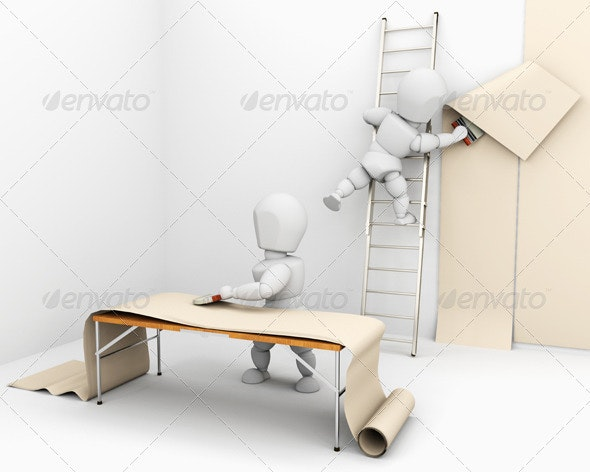 White Characters Wallpapering - Characters 3D Renders