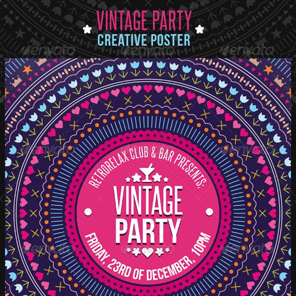 Vintage Party Creative Poster