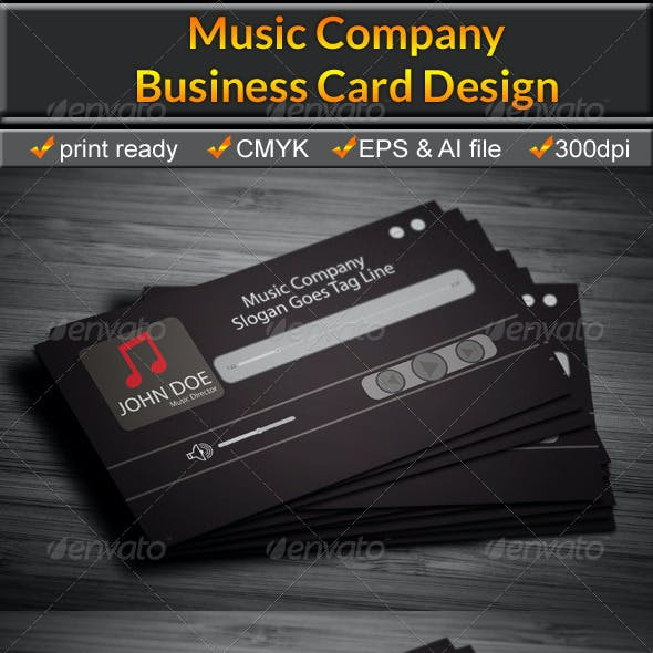 Music Business Card 3Color