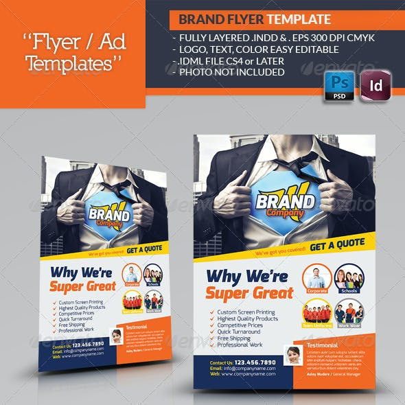 Creative Brand Flyer Template