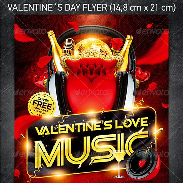 Valentine`s Love Music Flyer Vol.4