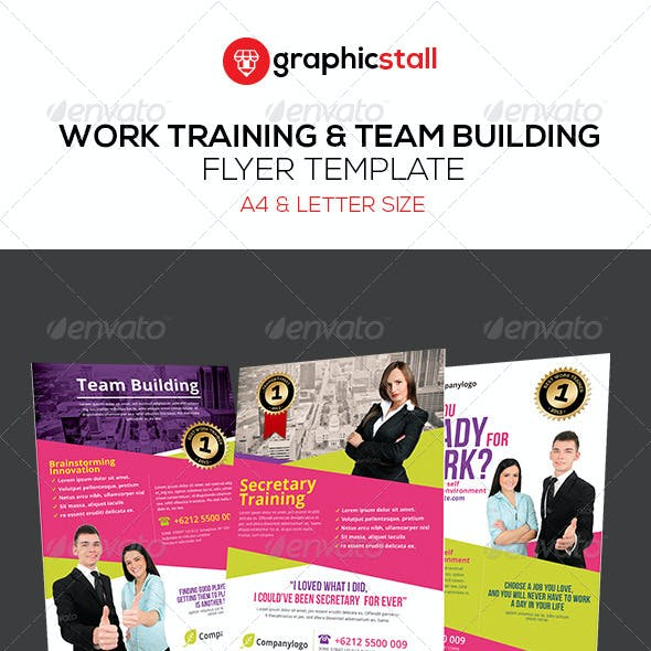 Work Training & Team Building Flyer Template