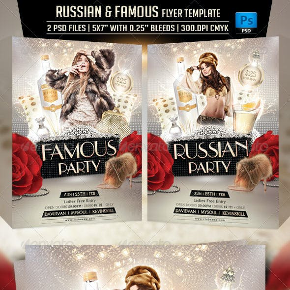 Russian and Famous Flyer Template