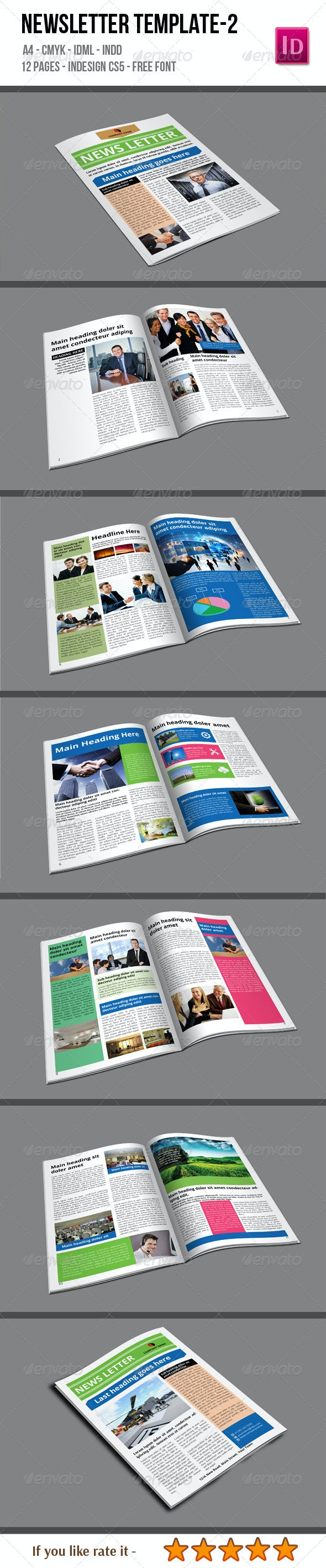 Newsletter Template-2 - Newsletters Print Templates