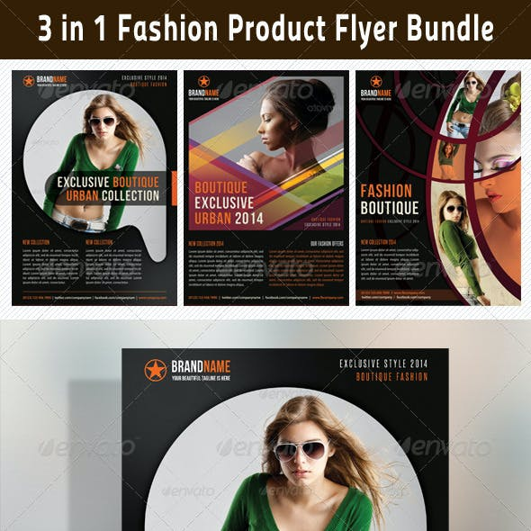 3 in 1 Fashion Product Flyer Bundle 08