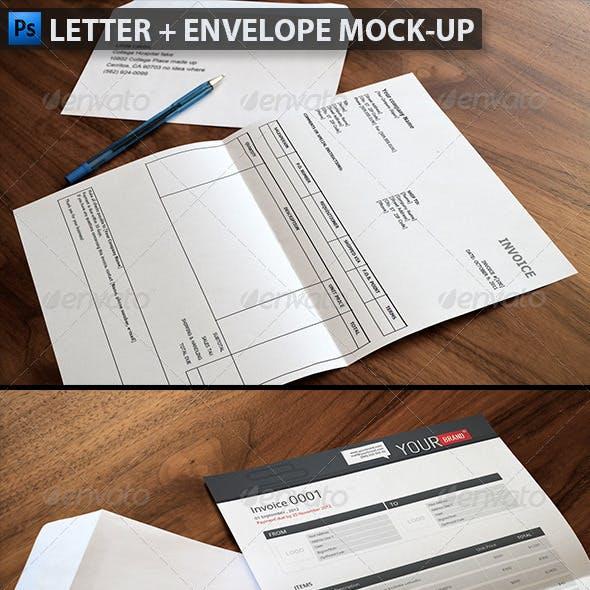 Letter & Envelope Mock-ups