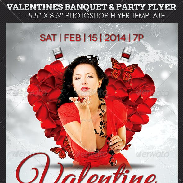 Valentines Banquet Party Flyer Template