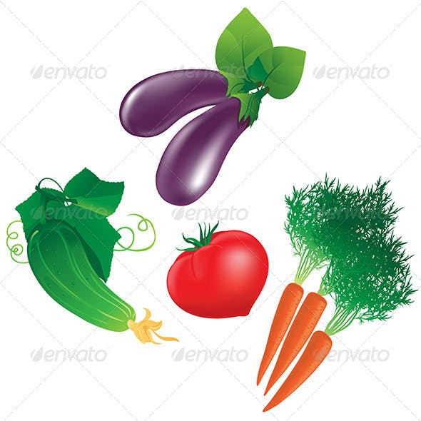 Four Different Vegetables