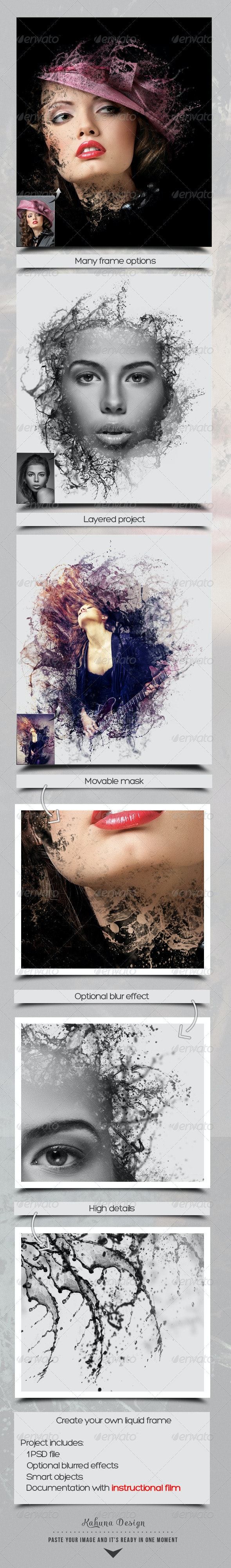 Liquid Frame Maker - Artistic Photo Templates