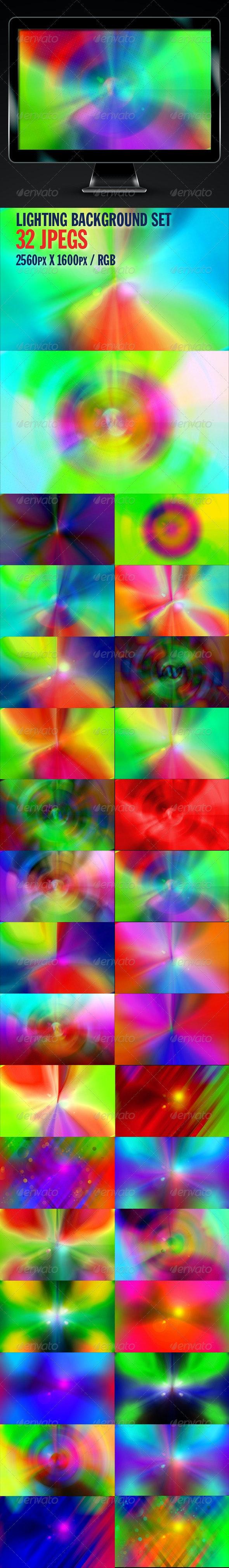 Lighting Backgrounds Set - Backgrounds Graphics