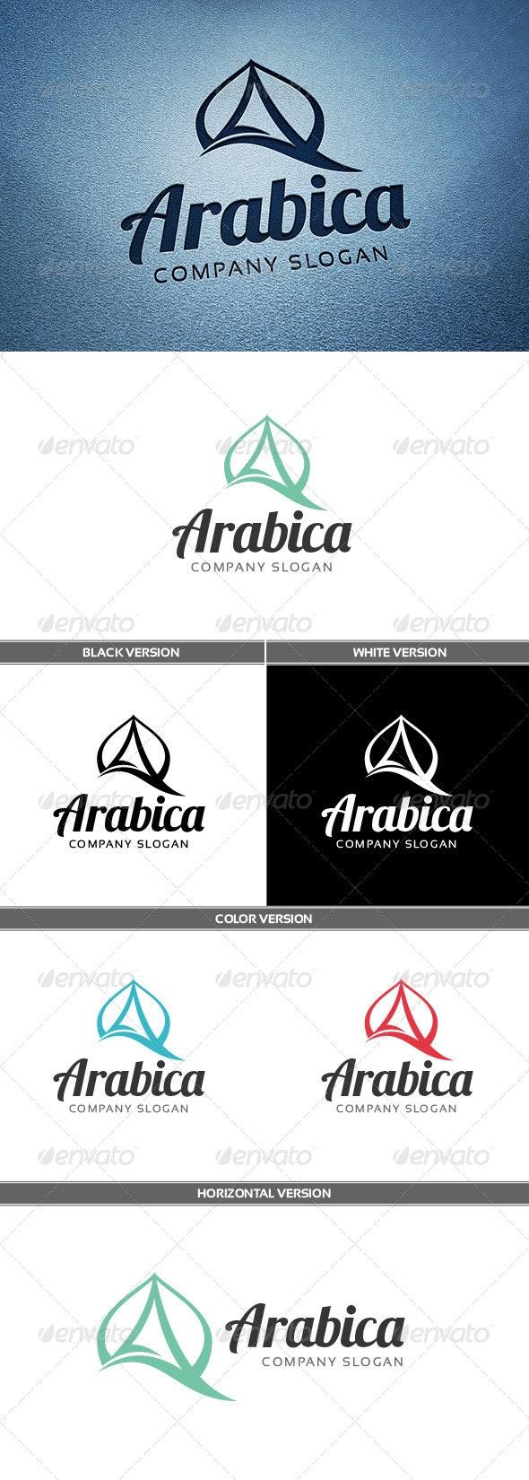 Arabica Logo - Letters Logo Templates