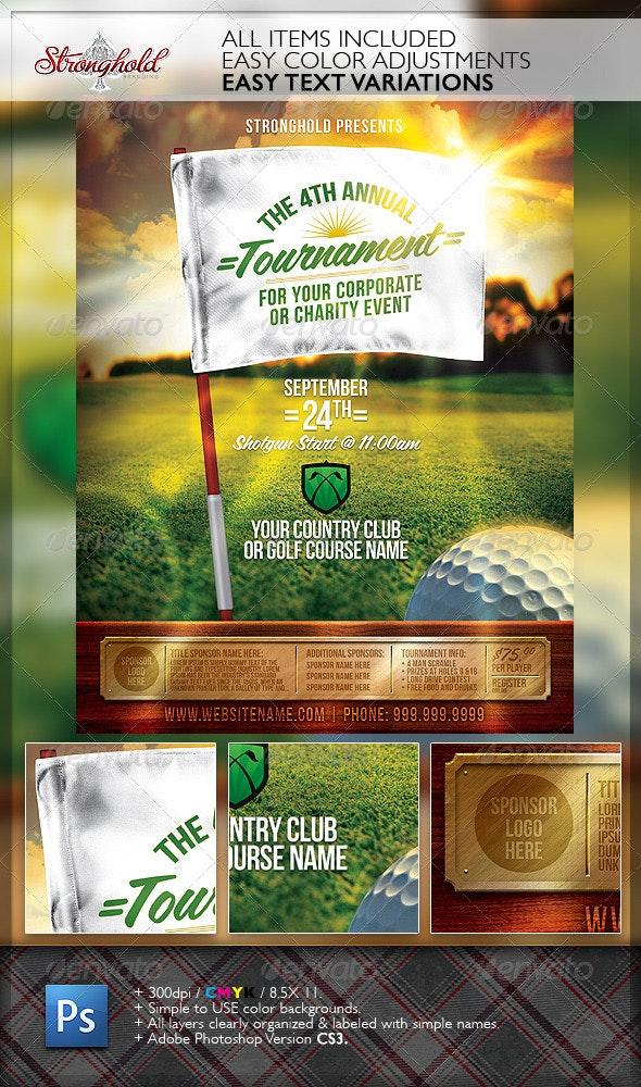 Golf Tournament Event Flyer Template - Flyers Print Templates