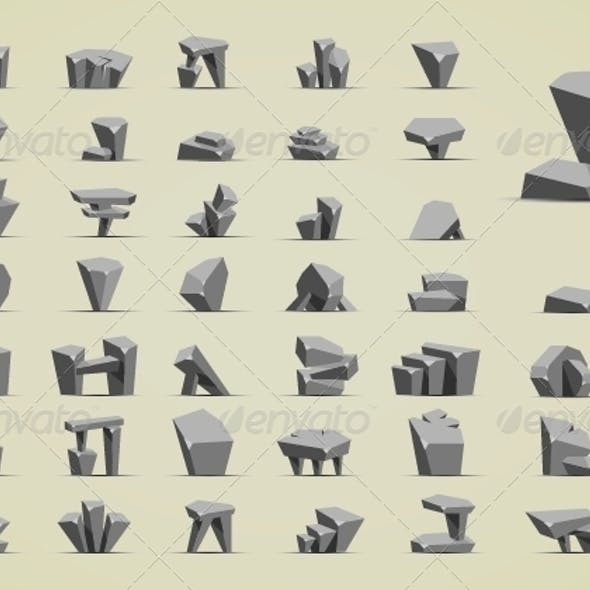 Simple Cartoony Stones