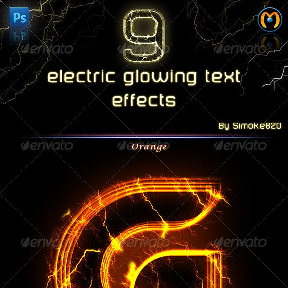 Electric Glowing effect  - Photoshop Action