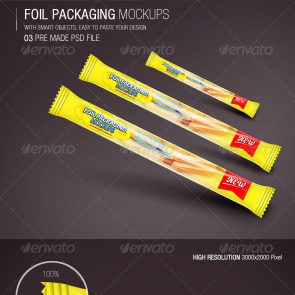 Foil Packaging Mockups Vol.3