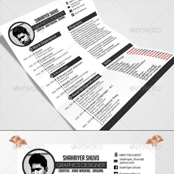 Minimal Timeline Resume