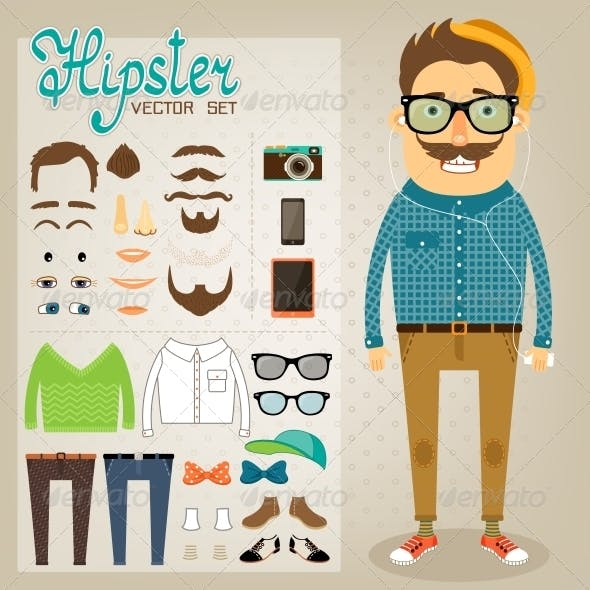 Hipster Character Pack for Geek Boy
