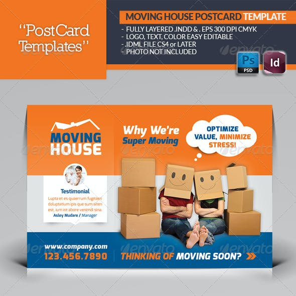 Moving House Postcard Template