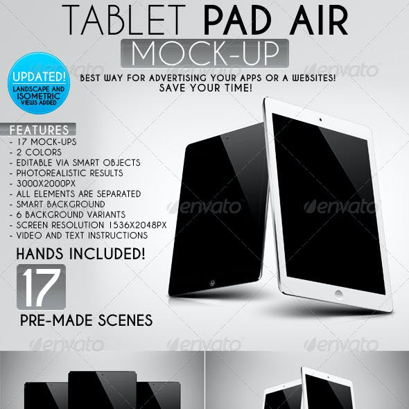 Tablet Pad Air Mock-Up
