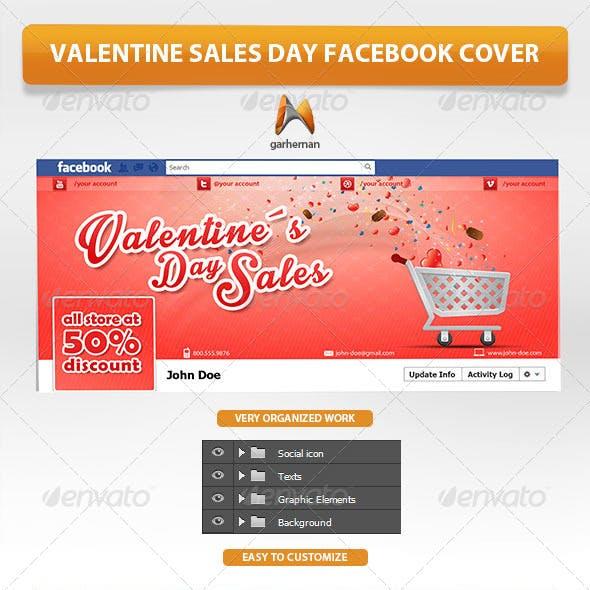 Valentine Sales Day Facebook Cover