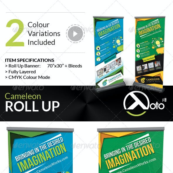 Cameleon Works Roll Up Banners