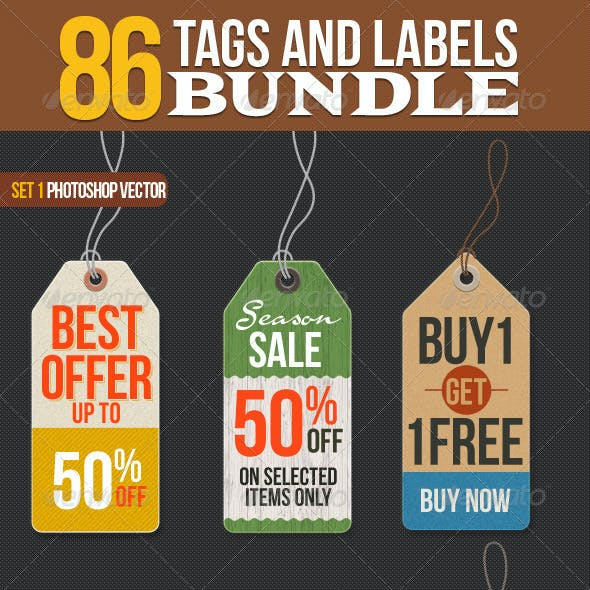 86 Tags and Labels Bundle