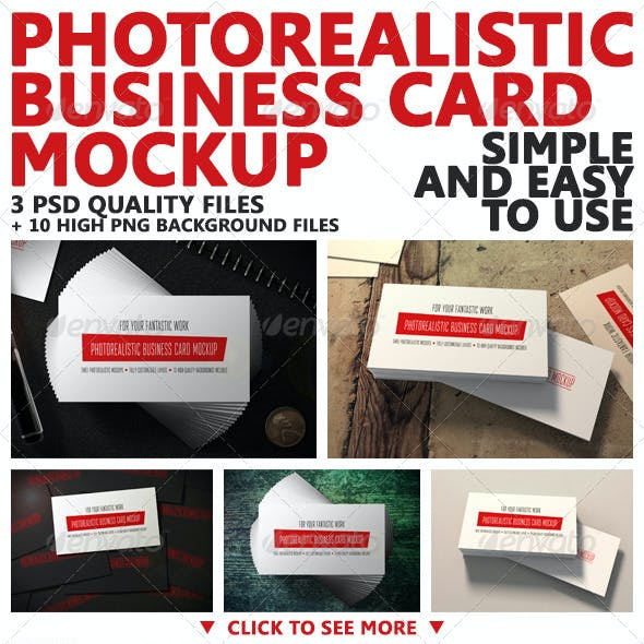 Photorealistic Business Card Mockup