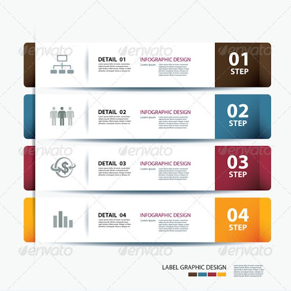 Business Step Paper Data and Design Template