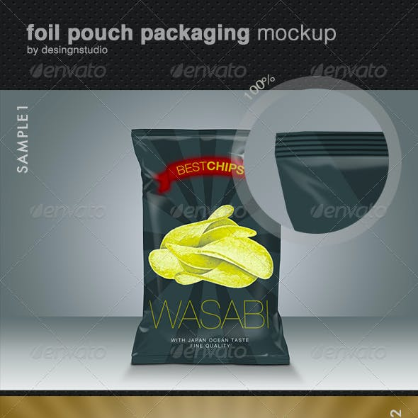 Foil Pouch Packaging Mock-Up