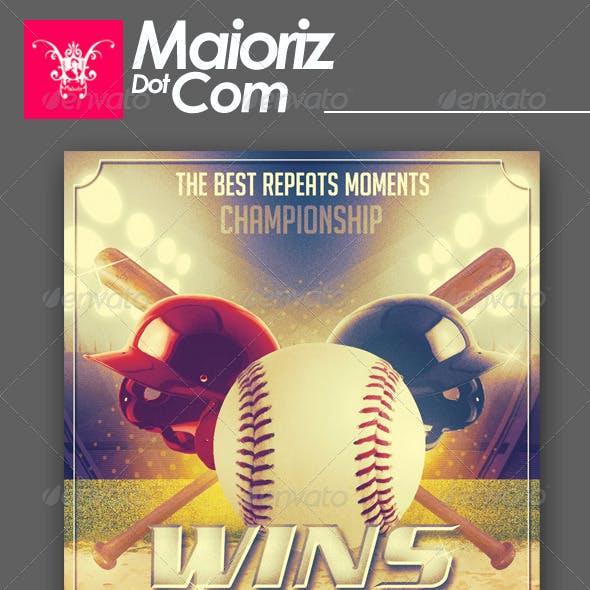 Baseball Champion Flyer