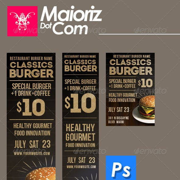 Classic Burger Banners Ads