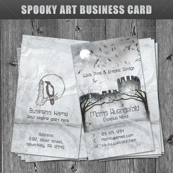 Spooky Art Business Card