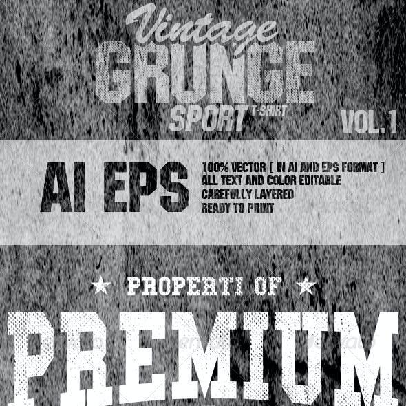 Vintage Grunge Sport Vol 1