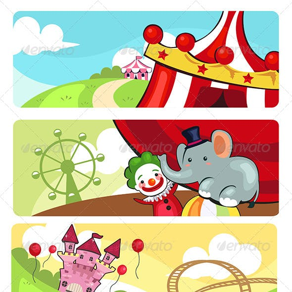 Amusement Park Banners