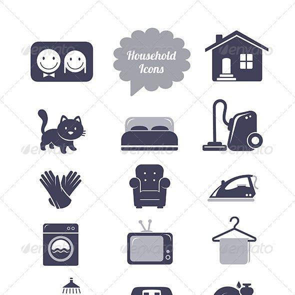 Household Icons Set