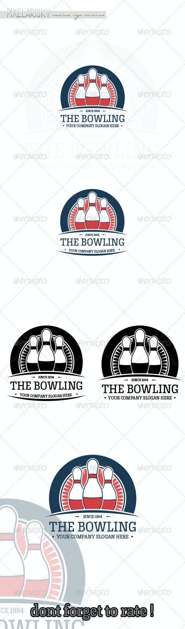 Bowling Sport Logo - Objects Logo Templates